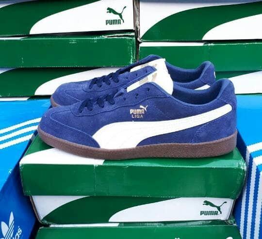Jual Puma Liga Suede Navy White Original - DKI Jakarta - Handsome ... 74a09fd93