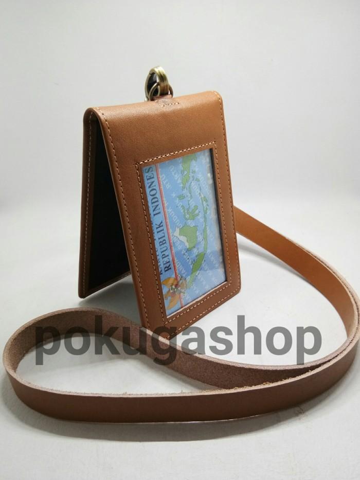 harga Name tag kulit /id card holder kulit /lanyard id card/id card leather Tokopedia.com