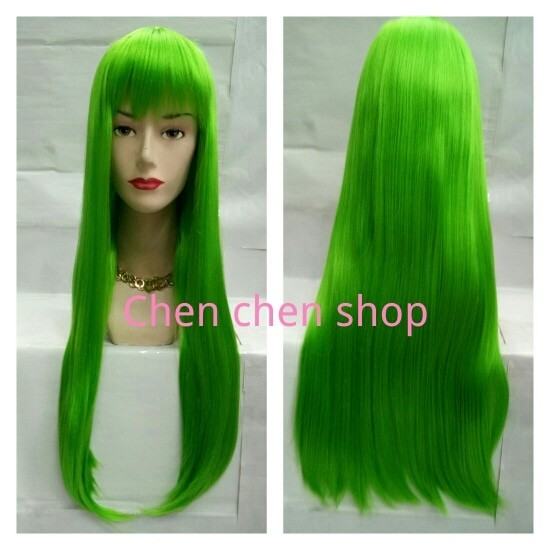 Review Wig   Wig Cosplay   Rambut Palsu Lurus Poni Depan Panjang - + ... cc419c0725