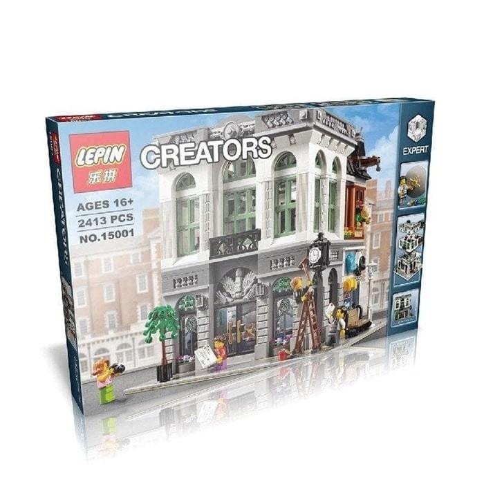 Jual Brick Lepin 15001 Creator Expert Brick Bank 2413pcs Olivia