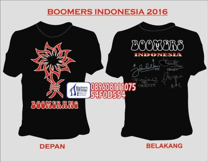 harga Kaos boomerang boomers indonesia tanda tangan boomerang band Tokopedia.com