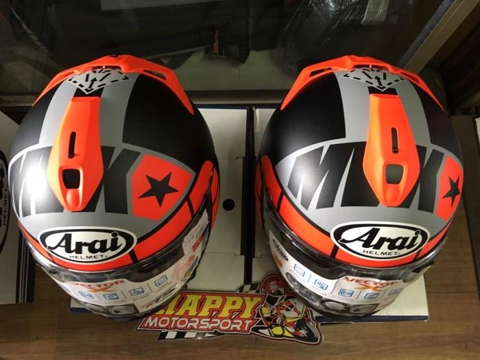 Helm Arai Vector X Maverick Vinales GP original Japan non SNI size M L 2