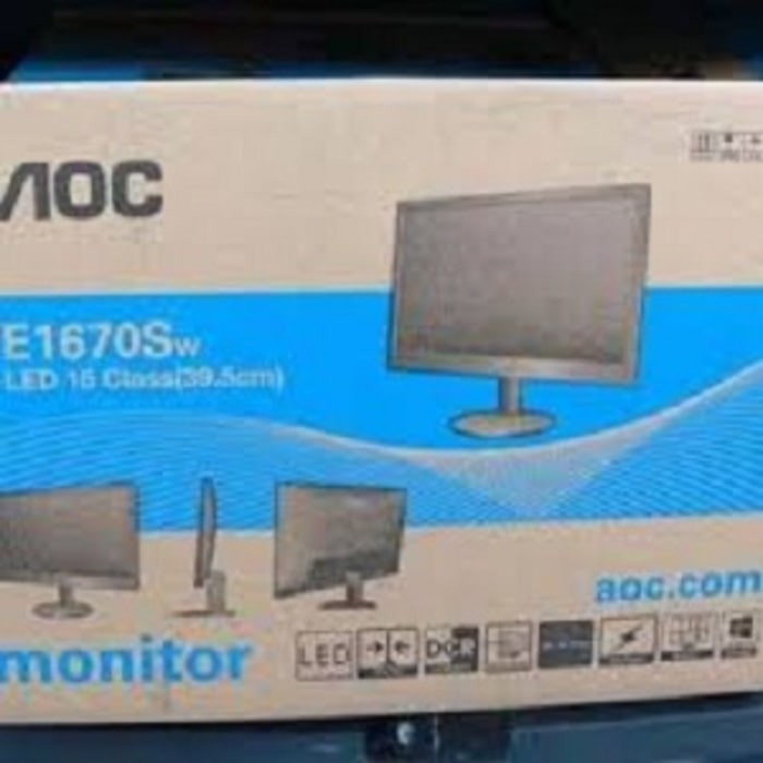 harga Monitor led aoc 15.6 inch e1670sw low power Tokopedia.com