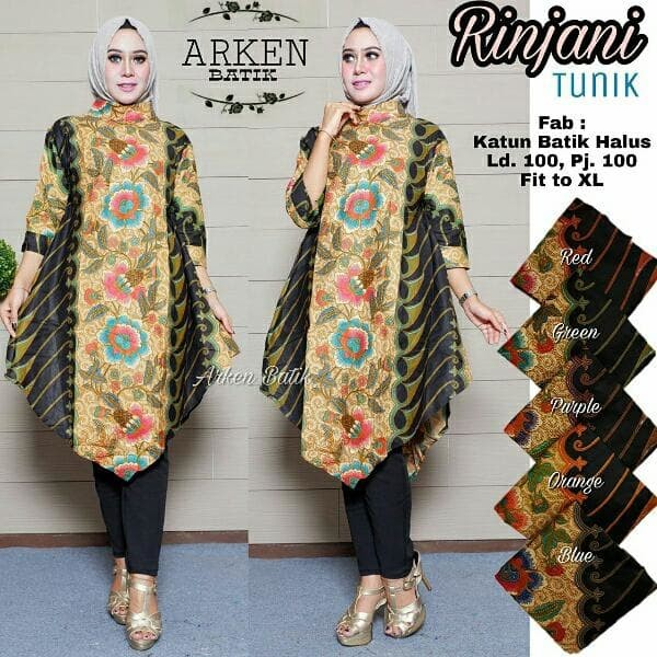 Jual Tunik Batik Baju Batik Batik Modern Tunik Atasan Baju Wanita Hem Bat Kota Bandung Abadi Shope Tokopedia