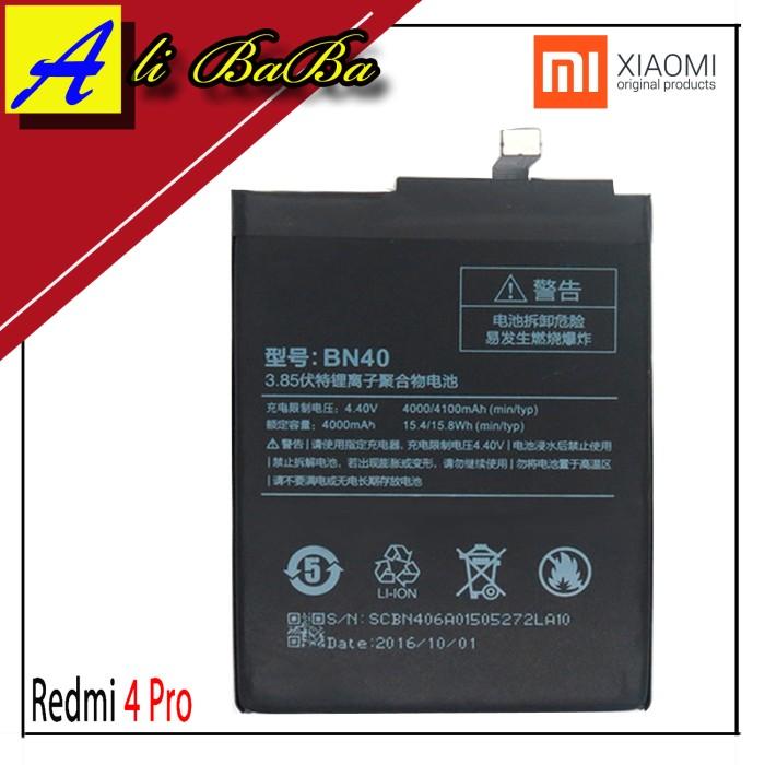 harga Baterai handphone xiaomi redmi 4 pro redmi 4 prime bn40 batre hp redmi Tokopedia.com