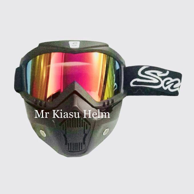 harga Kacamata cross google goggle mask alien antman snail pelangi rainbow Tokopedia.com