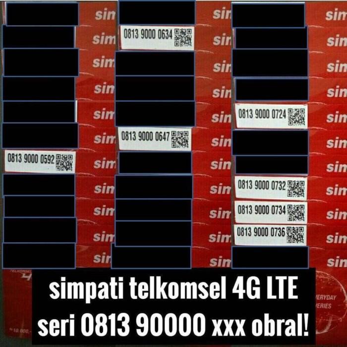 Telkomsel Simpati Nomor Cantik 0812 9000 1995 Daftar Harga Source · nomor cantik telkomsel simpati 4G kartu perdana best seri murah meriah