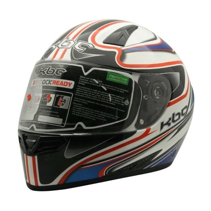 Helm full face kbc vk euro - blue red white