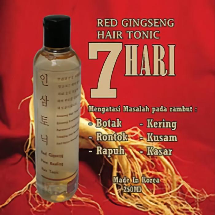TONIC PENUMBUH RAMBUT RONTOK + RED GINSENG HAIR TONIC BPOM ASLI KOREA