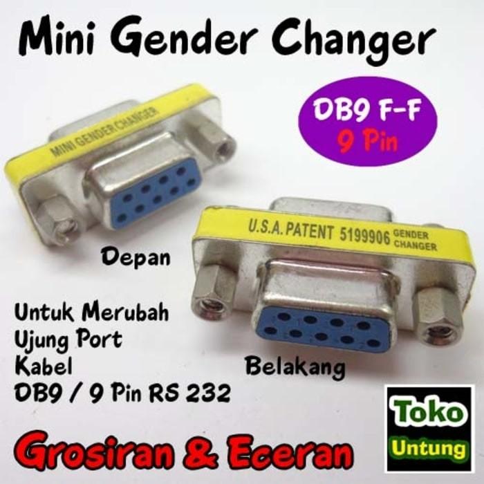 Foto Produk istimewa Mini Gender Changer - Gender DB9 Female 9 Pin RS232 dari el-nur