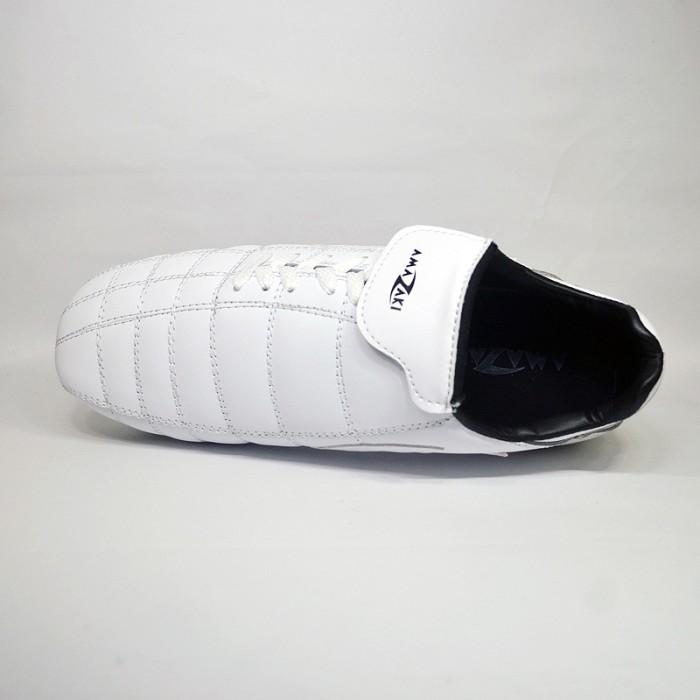 Sepatu Bola Kulit Putih Pul 6 Besi - Amazaki Gigas White Bola - Putih, 38