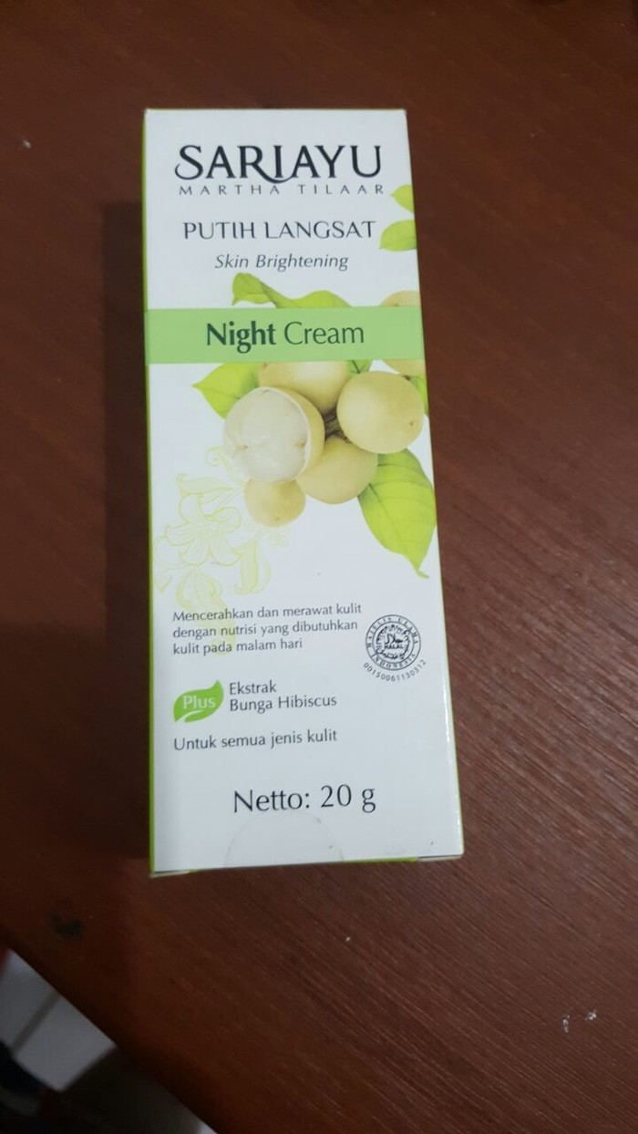 Sari Ayu Sariayu Putih Langsat Night Cream 20g