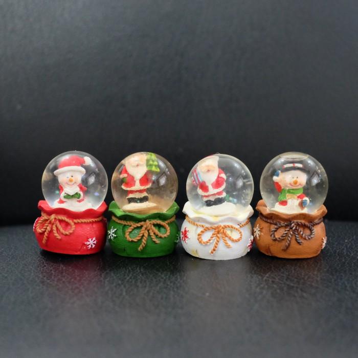 (sale) pajangan hiasan natal water ball santa snowman salju pohon kado