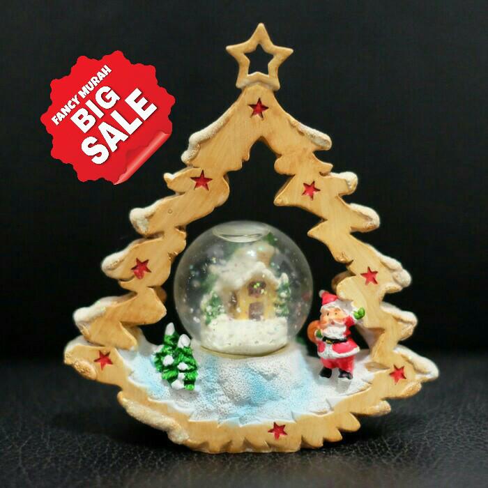(sale) pajangan hiasan natal waterball pohon santa rumah lucu unik.