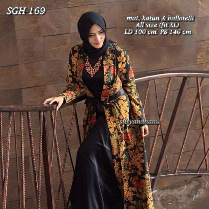 Jual Sgh169 Baju Pesta Batik Muslimah Elegan Baju Pesta Muslimah