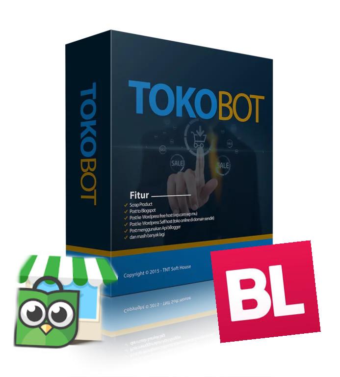 harga Tokobot pro tool scrapper tokopedia/bukalapak ke wp / blogspot Tokopedia.com