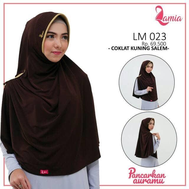 harga Lamia hijab lm 023 jilbab instan belah samping khimar jumbo syar'i 2 Tokopedia.com