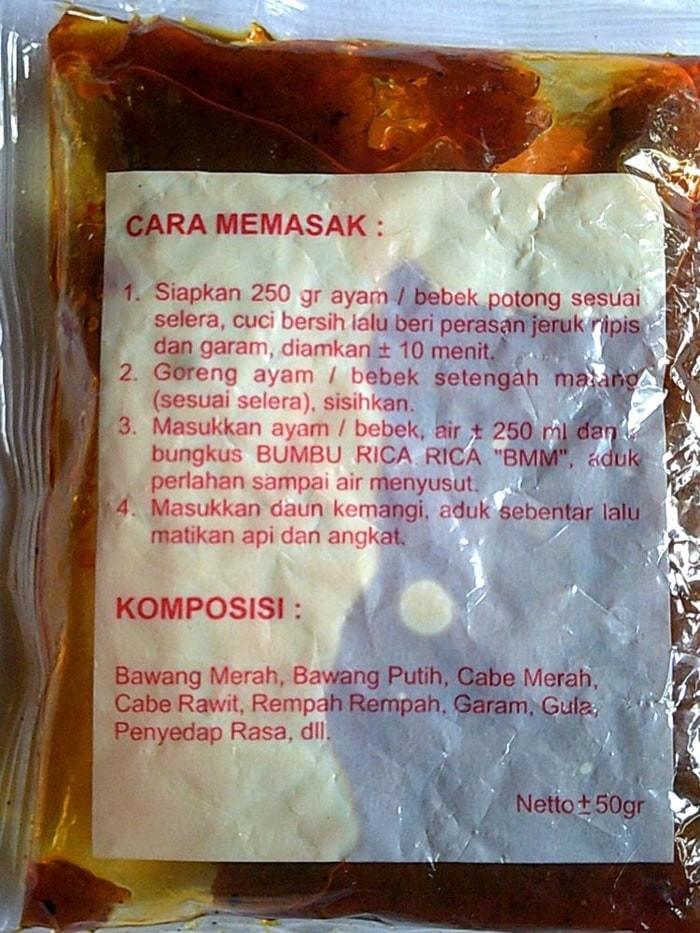 Supplier Bumbu Masakan Ayam Bebek Rica Rica Ecer Grosir Halal Lezat .