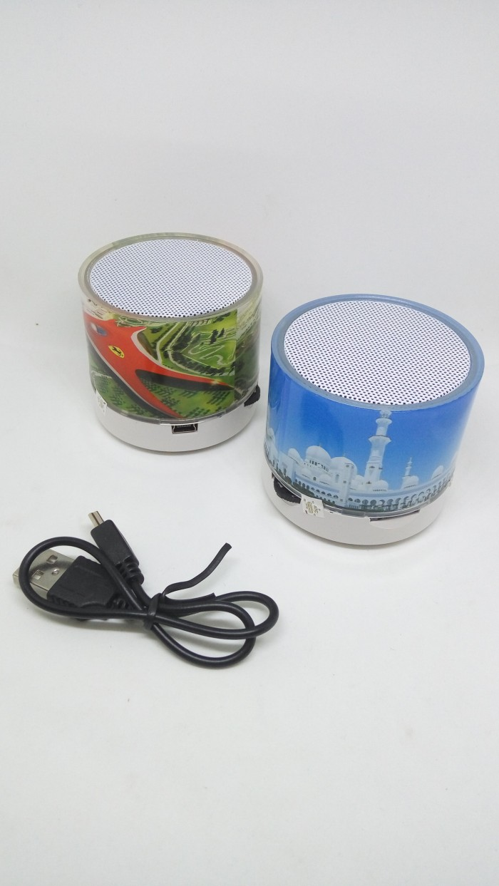 harga Speaker mini bluetooth motif led light Tokopedia.com