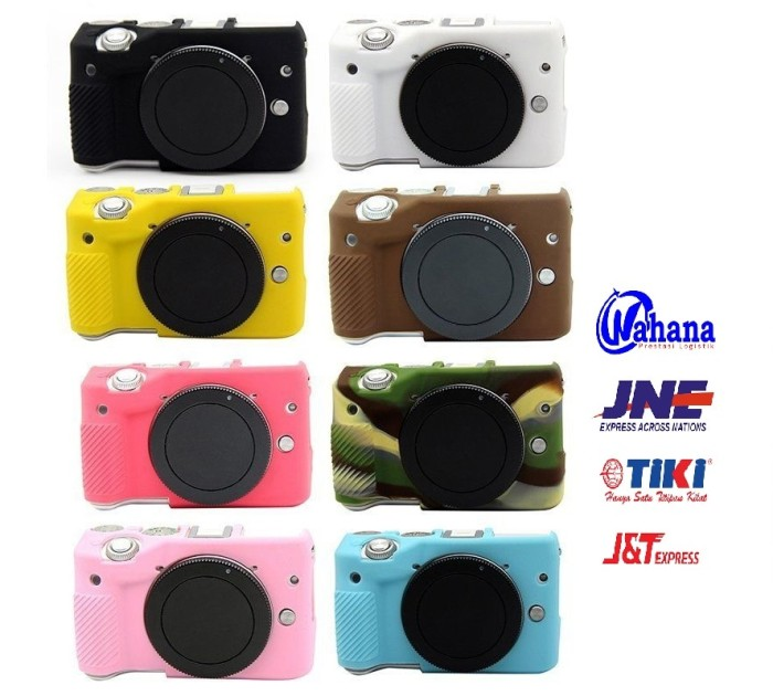 Silicone case kamera mirrorless canon eos m3