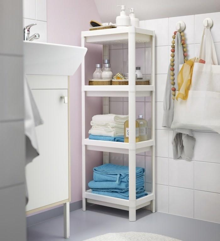 Unit Lemari Rak Plastik Dapur R Mandi 4susun Ikea Vesken Organizer