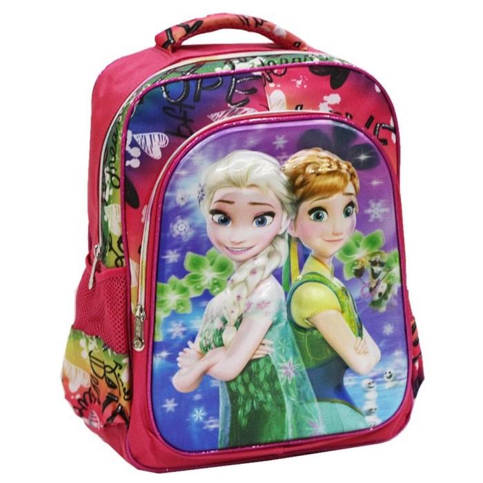 Tas Ransel Anak Sd Import Disney Frozen Daun 5d Timbul Murah