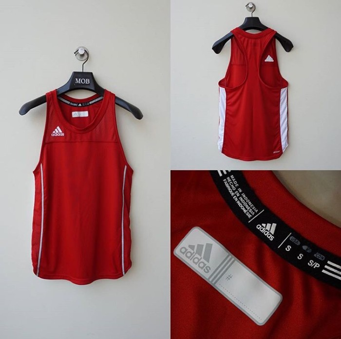ada7511413f35 Jual Adidas Men s Utility Singlet Red - Original Inc. Official ...