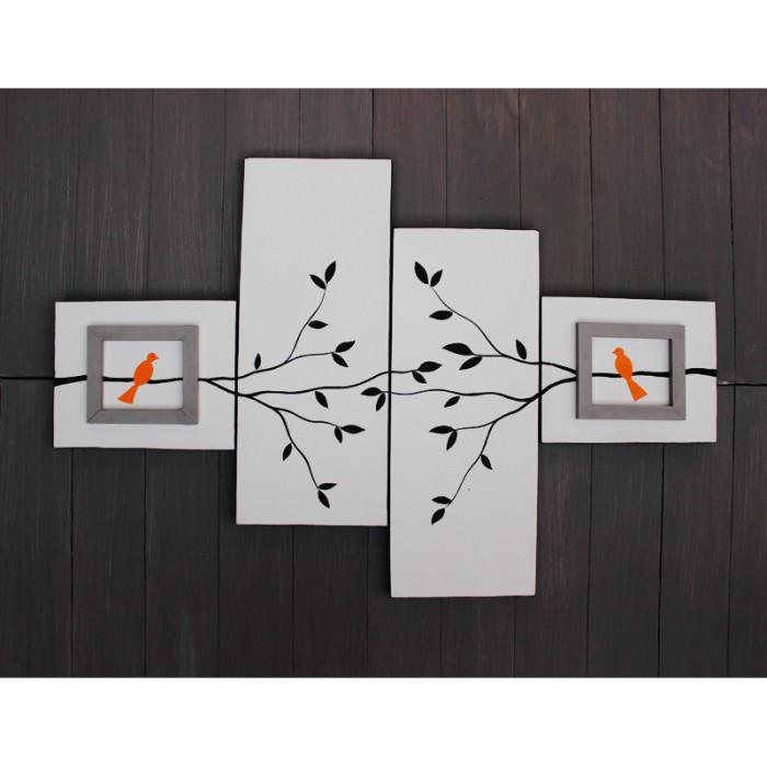 harga Lukisan burung dekoratif - kotak 6 Tokopedia.com
