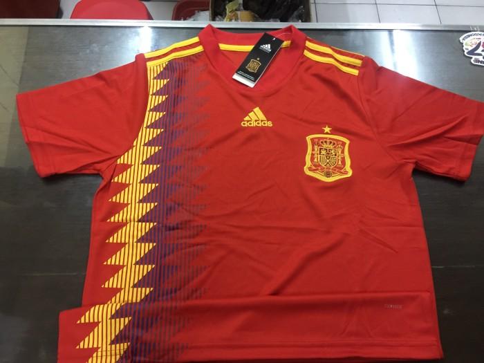 96411729a Harga Terbaru JERSEY BAJU BOLA SPANYOL HOME WORLD CUP 2018 GRADE ORI ...
