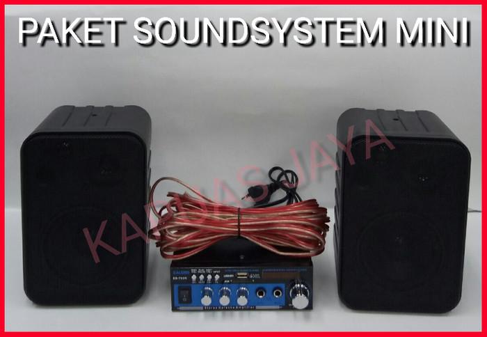 harga Paket soundsystem karaoke mini speaker fahreinheit + ealsem amplifier Tokopedia.com