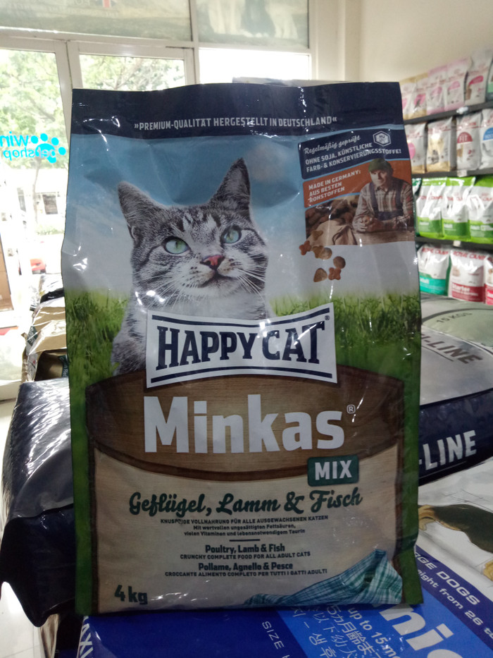 harga Happy cat minkas mix 4kg - near exp Tokopedia.com