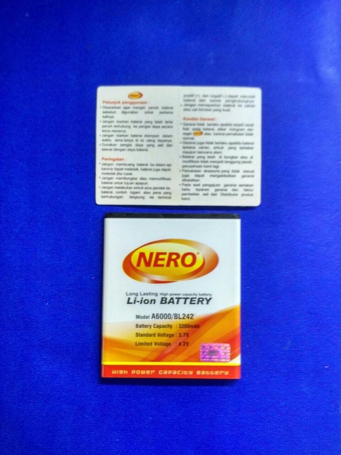 harga Nero baterai lenovo a6000 bl242 3200 mah double power battery baterai Tokopedia.com