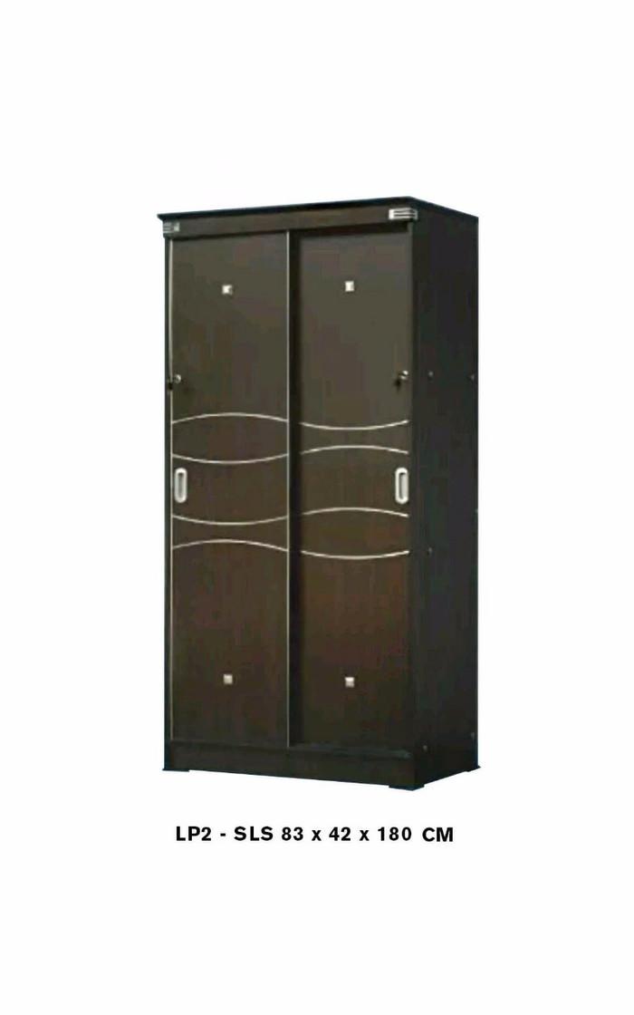 harga Lemari pakaian 2 pintu sliding full panel minimalis Tokopedia.com