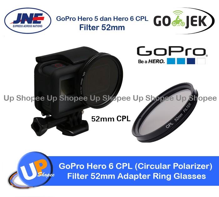 harga Gopro hero 6 cpl (circular polarizer) filter 52mm adapter ring glasses Tokopedia.com