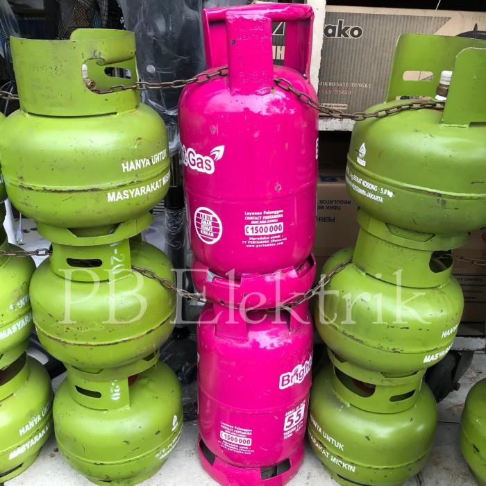 harga Tabung bright gas 5kg isi / tabung lpg elpiji 55kg khusus gosend Tokopedia.com