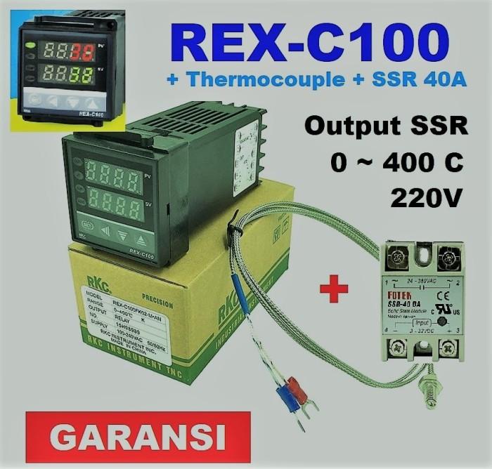 harga Digital temperature controller pid rex-c100 ssr output range 0-400 c Tokopedia.com