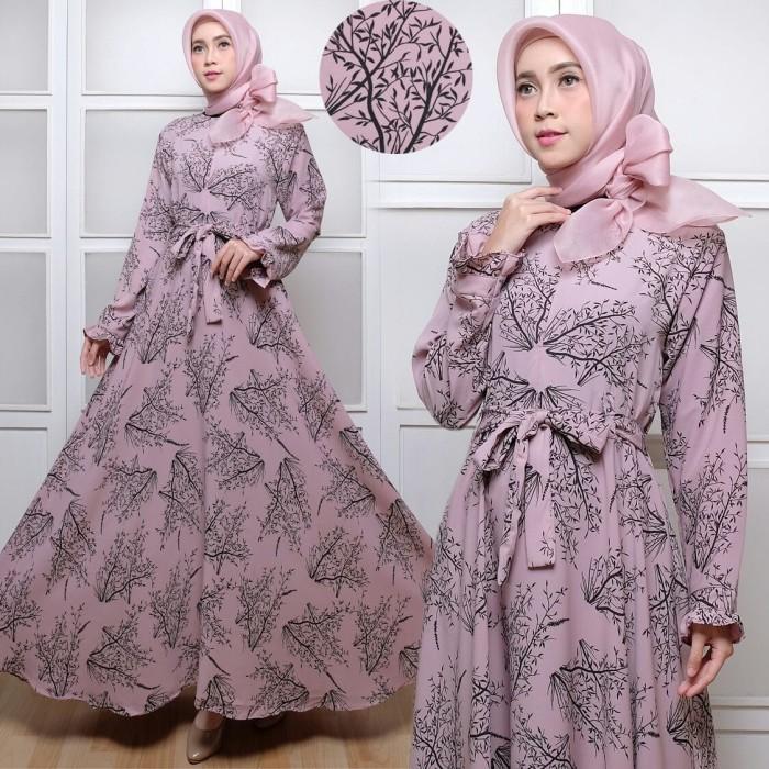 Jual Maxi Maxmara Akar Baju Gamis Dress Muslim Terbaru Jumbo Motif