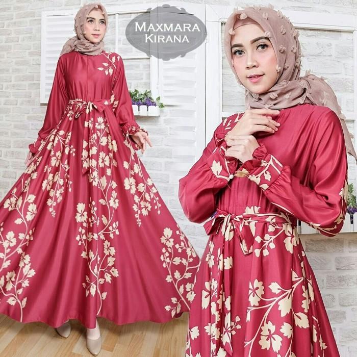 Jual Maxi Maxmara Kirana Baju Gamis Dress Muslim Terbaru Jumbo Motif e567a9af3c