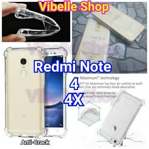 ... Clear Case Tahan Source · Softcase AntiCrack Xiaomi Redmi Note 4 4X Anti Crack Shock Case Note 4 2