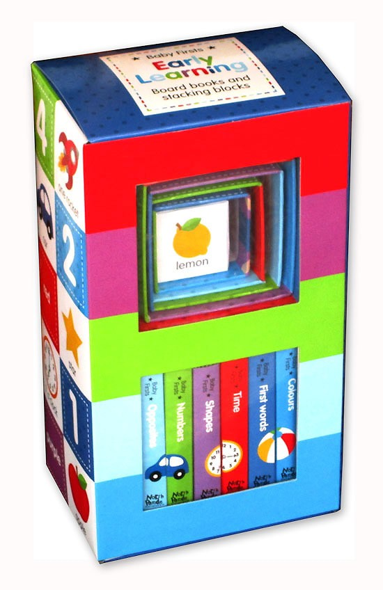 harga Baby firsts early learning box set includes 6 board books and6stacking Tokopedia.com