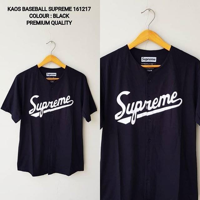 harga Kaos baseball supreme black 161217 baju t-shirt tee import pria cowok Tokopedia.