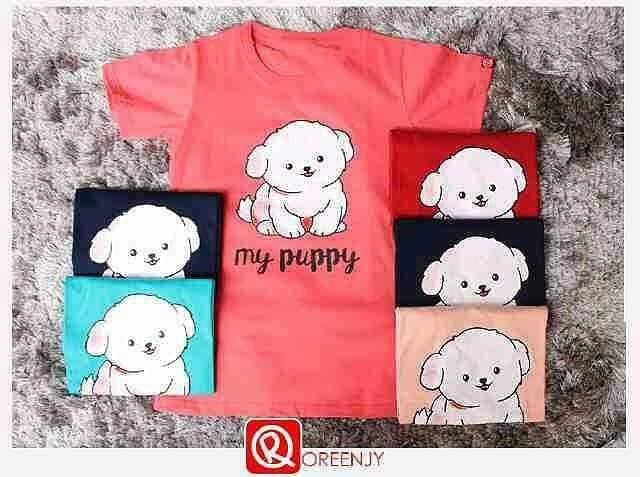 harga 4674 kaos wanita oreenjy my puppy Tokopedia.com