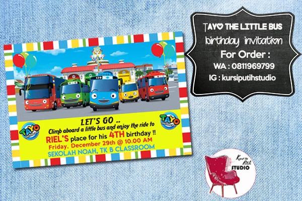 Jual Undangan Ulang Tahun Birthday Invitation Tema Tayo Jakarta Timur Bowlicious Shop Tokopedia