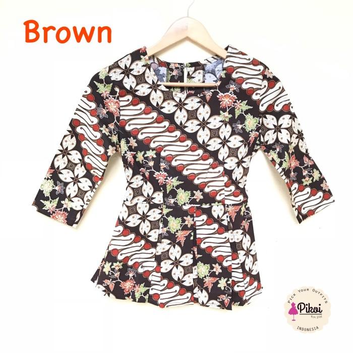 harga Baju batik / batik wanita modern 7/8 / atasan peplum / kantor / kerja Tokopedia.com