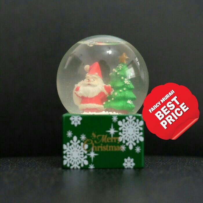 harga (best price) waterball bola kristal air santa claus pohon natal Tokopedia.com