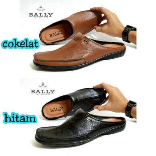 Jual sandal sepatu bally bustong pria bapak murah bahan kulit santai ... a36affd042