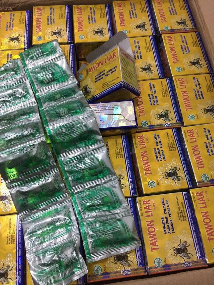 Tawon Liar Kapsul Original saset warna hijau silver