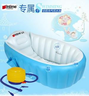 harga Paket intime baby bath tub blue + pompa bestway 5 inch/ bak mandi bayi Tokopedia.com