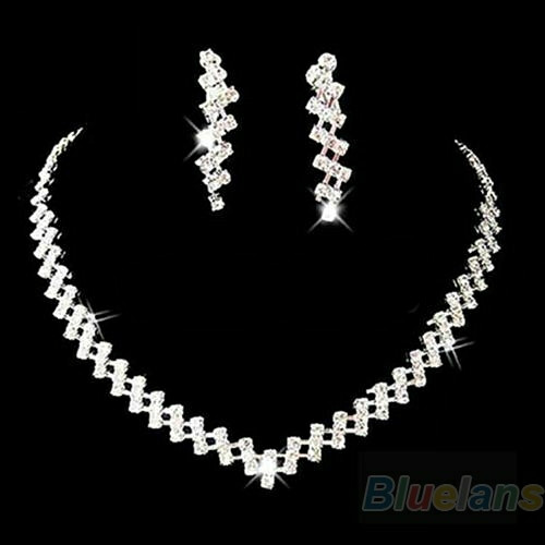harga 1 set perhiasan xuping anting kalung silver plated lapis perak hadiah Tokopedia.com