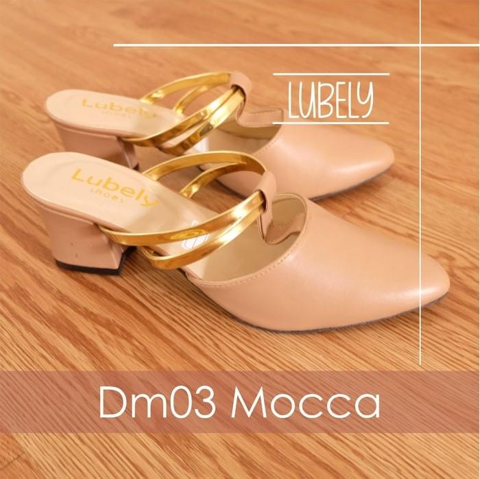 Mocca heels 5cm sepatu sandal selop wanita nude pesta shoes cewek high